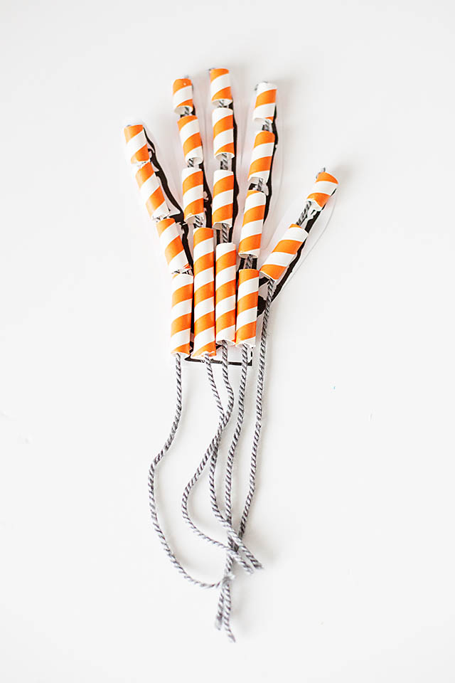 Straw skeleton hand