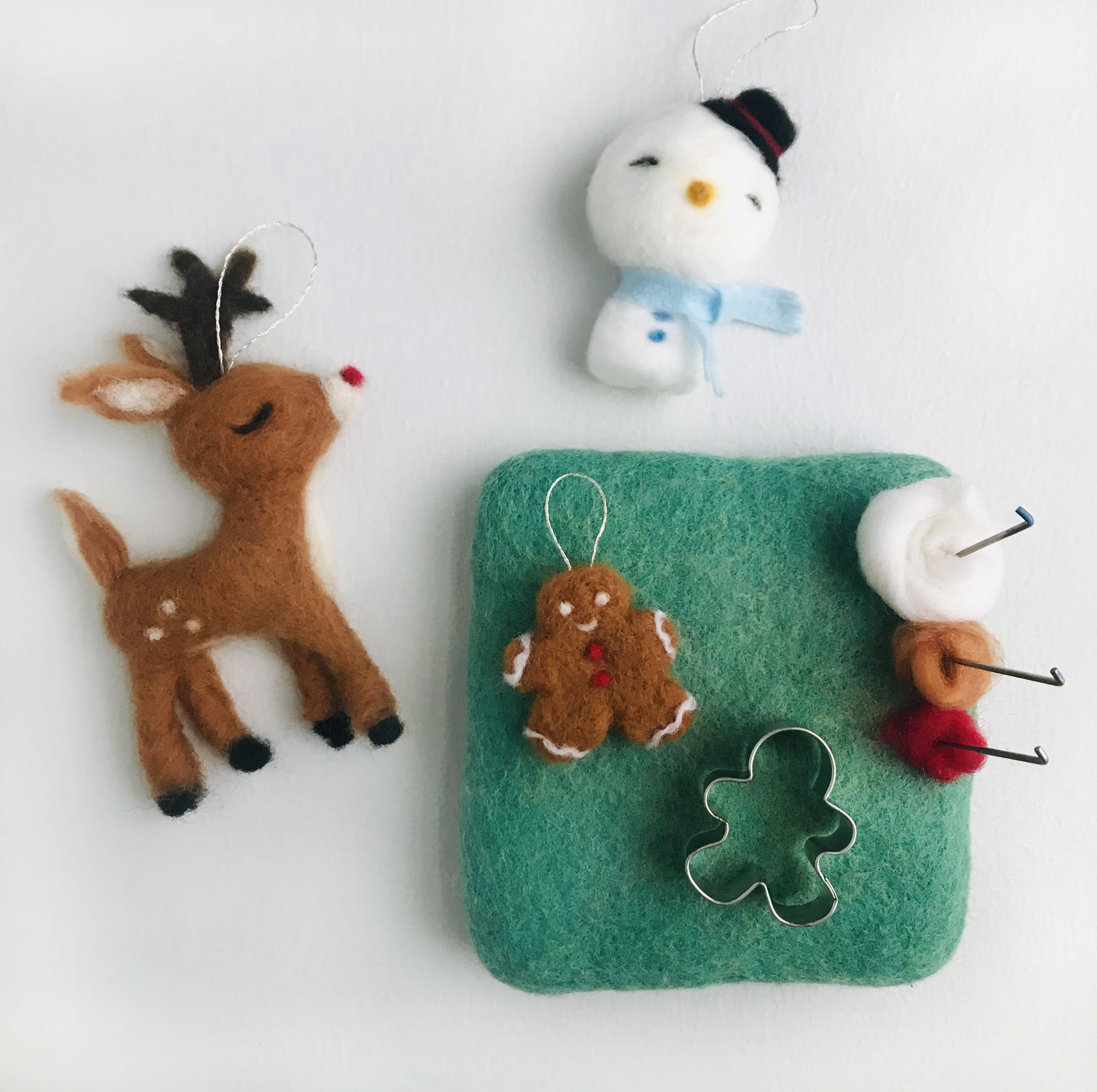 Needle Felted Ornaments