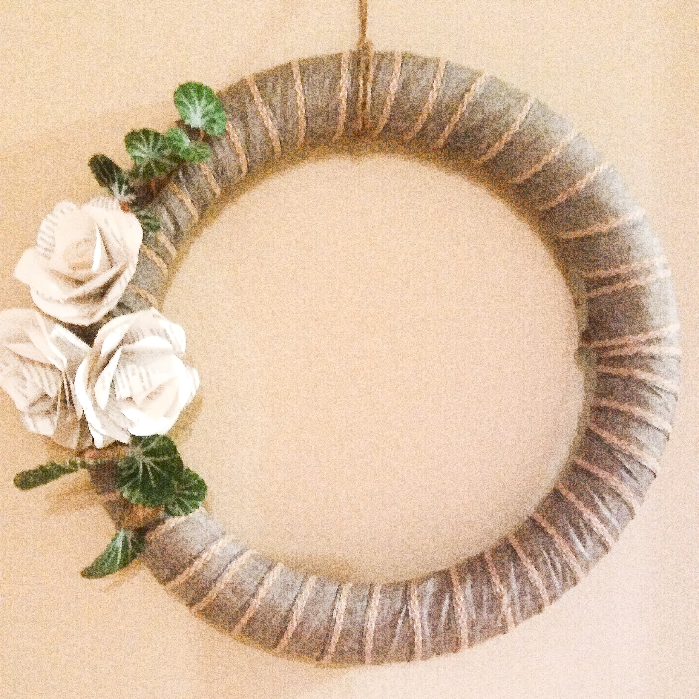 Ribbon & Book-Page Wreath Class